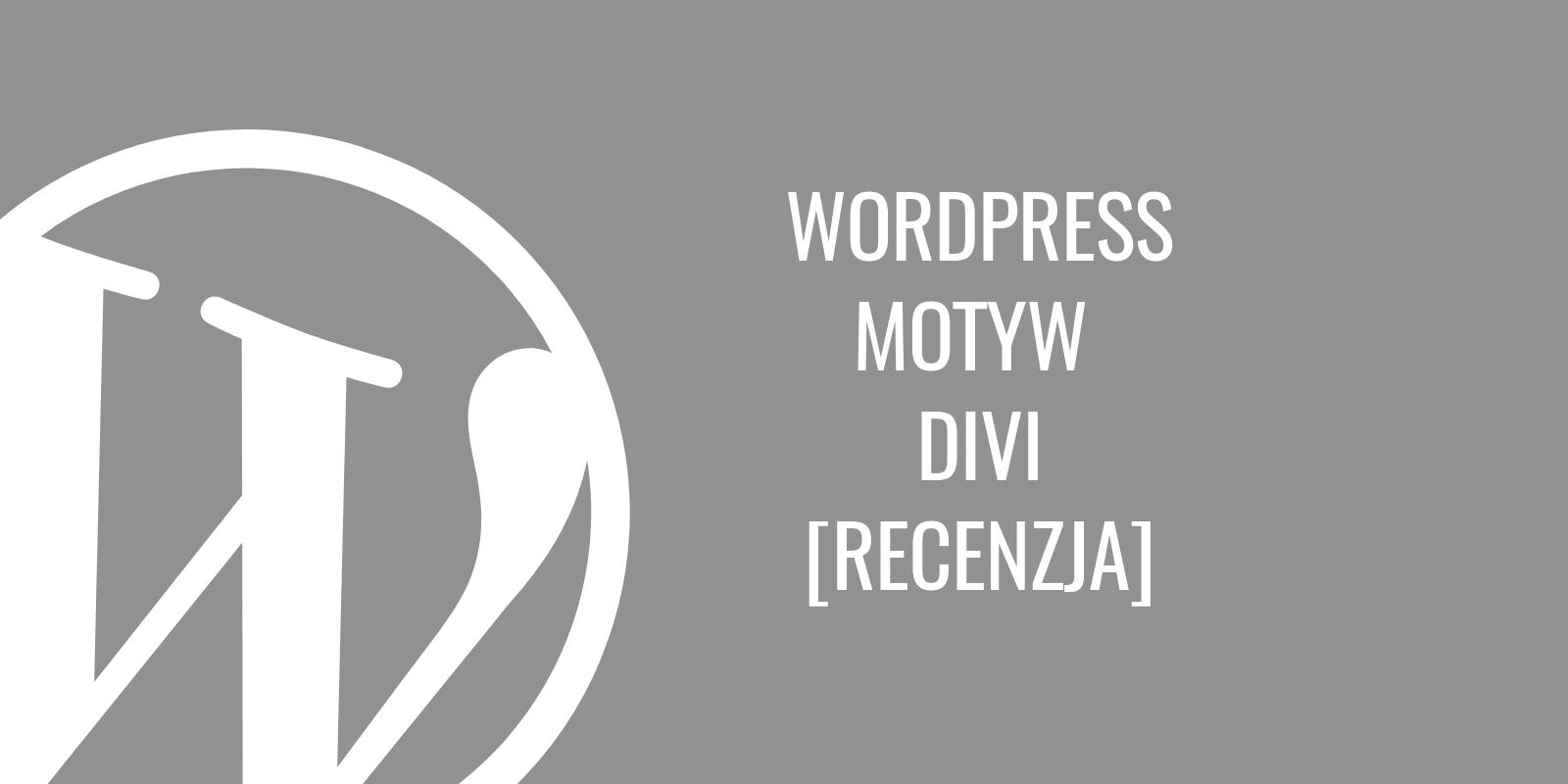 WordPress Motyw Divi