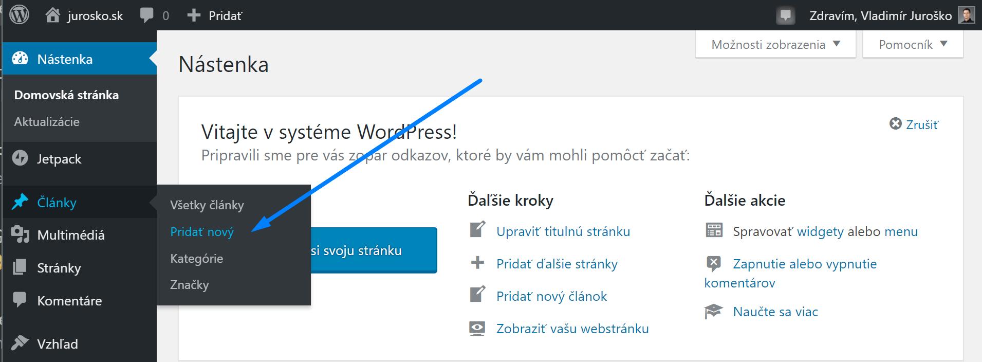WordPress články